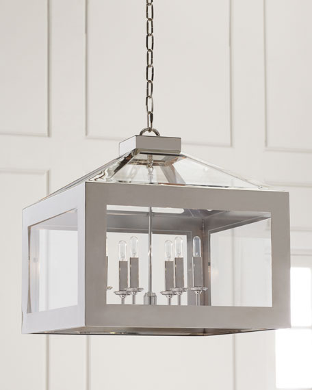 Hurley 6-Light Polished Nickel Chandelier