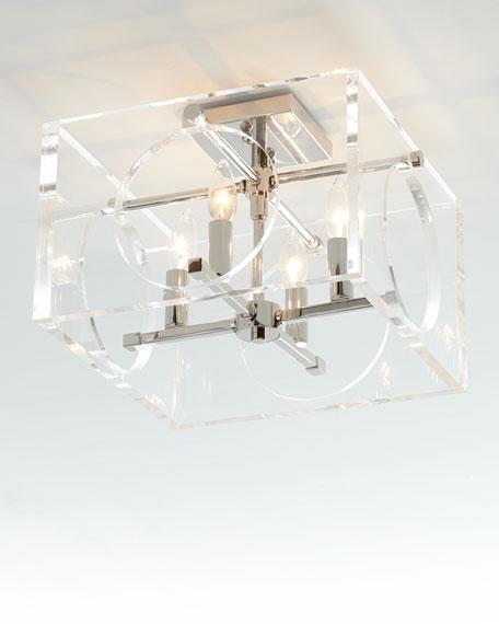 Crystorama Drake 4-Light Polished Nickel Ceiling Mount