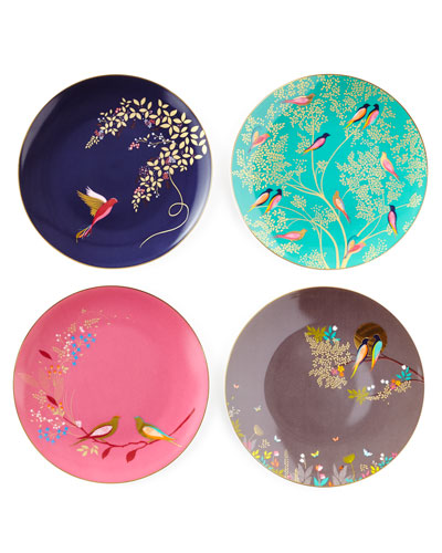Sara Miller Gold-Plated Assorted Plates  Set of 4