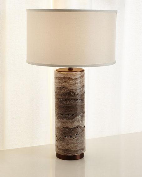 Marble Column Table Lamp