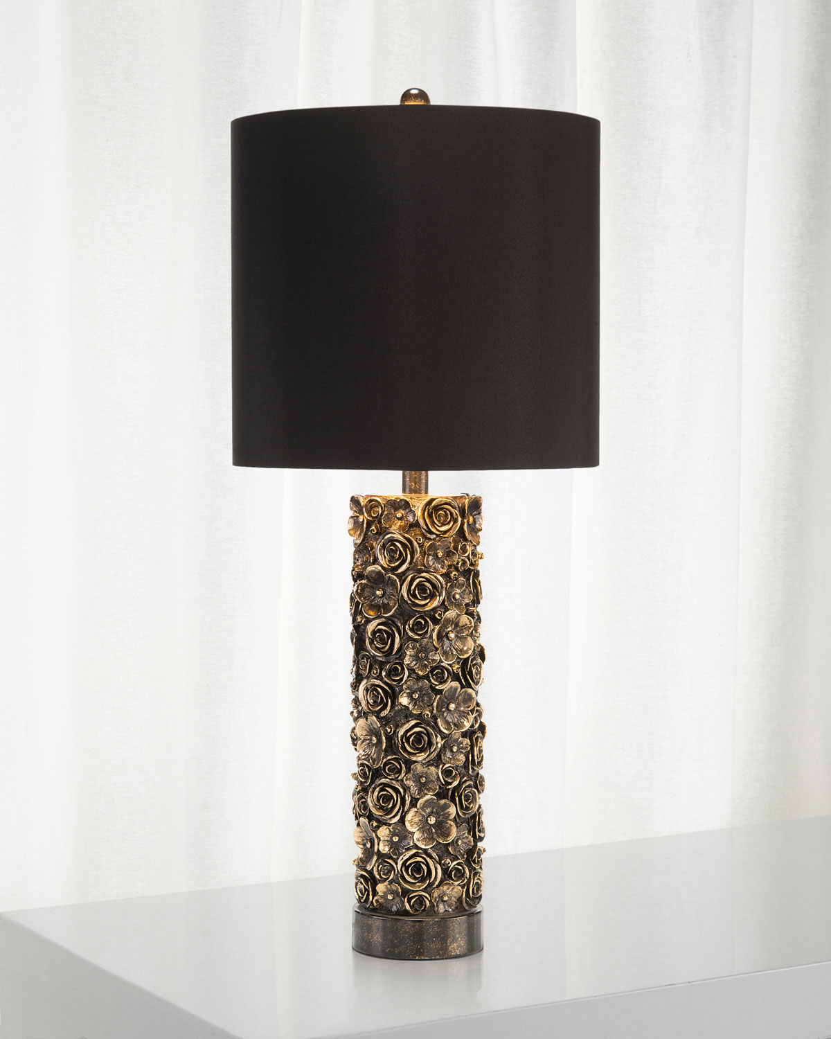 distressed table lamps rustic modern distressed bloom table lamp johnrichard collection neiman marcus