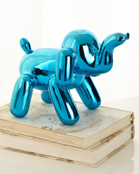 Chrome Balloon Elephant, Blue