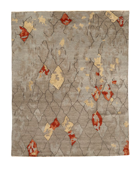 Abda Hand-Knotted Rug, 6' x 9'