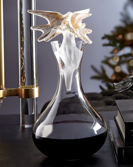 Hirondelles Decanter Gold Stamped