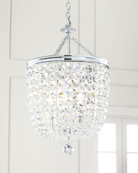 Image 2 of 2: Crystorama Archer 5-Light Crystal Polished Chrome Chandelier