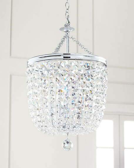 Image 1 of 2: Crystorama Archer 5-Light Crystal Polished Chrome Chandelier
