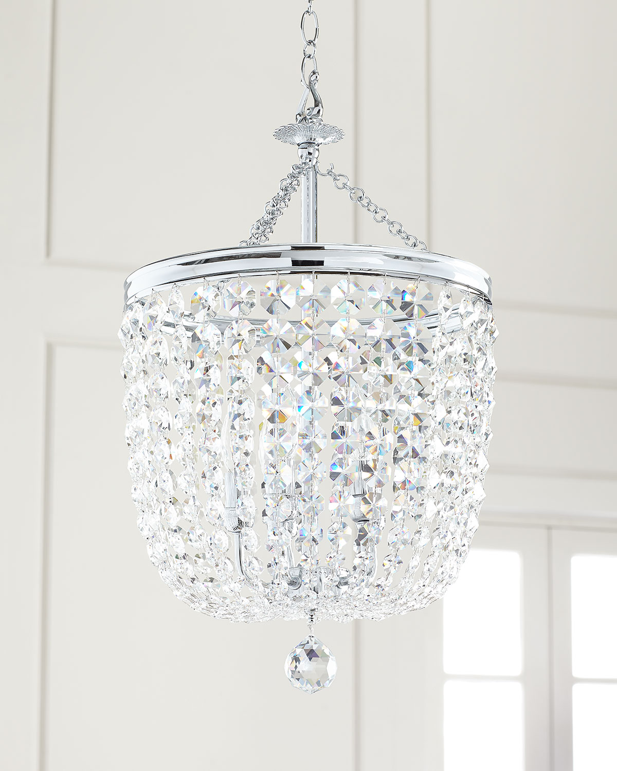 Crystorama Archer 5-Light Crystal Polished Chrome Chandelier