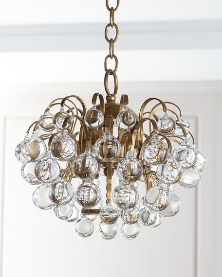 Image 1 of 2: AERIN Bellvale Small Chandelier