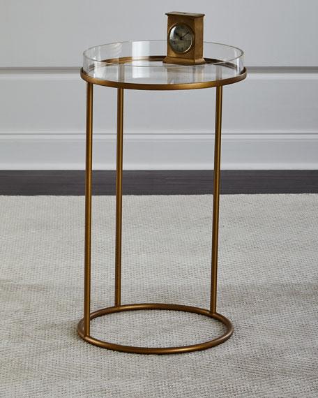 Thylane Acrylic-Top Side Table