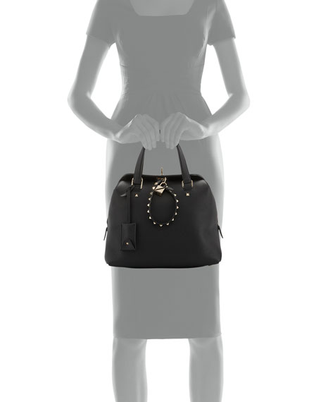 Rockstud Twiny Leather Duffel Bag