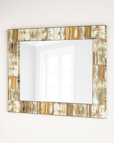 Natural Faux Horn Mirror