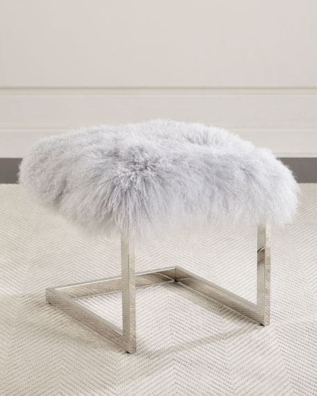 Massoud Ariana Sheepskin Ottoman