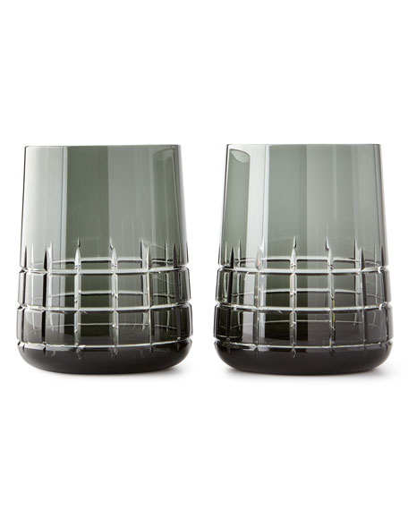 Graphik Stemless Goblets, Set of 2, Gray