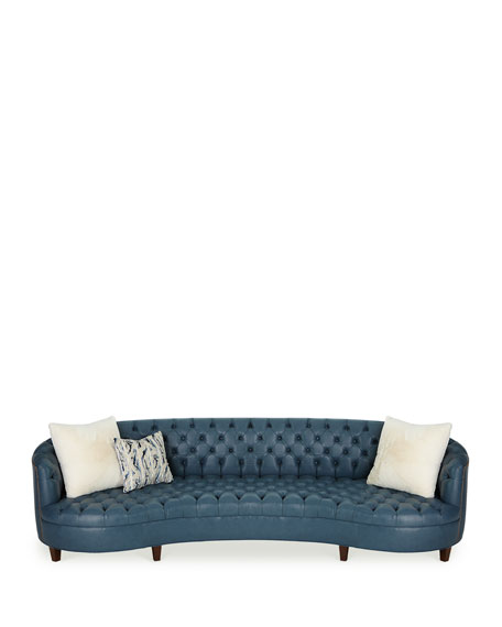 Magnolia Tufted Leather Sofa 126""