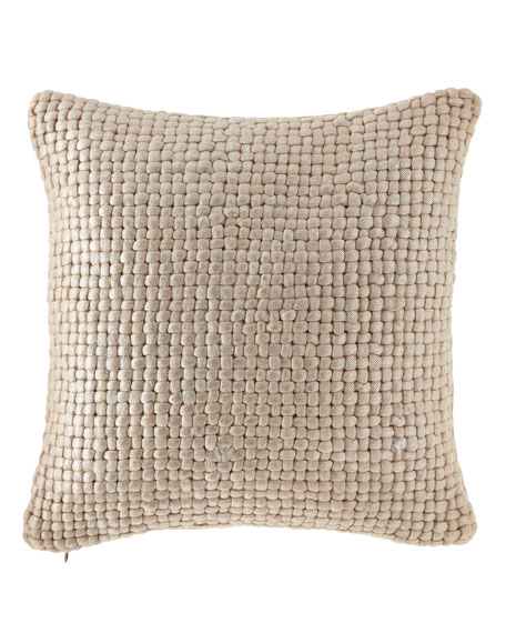 Michael Aram Metallic Palm Basketweave Pillow, 18