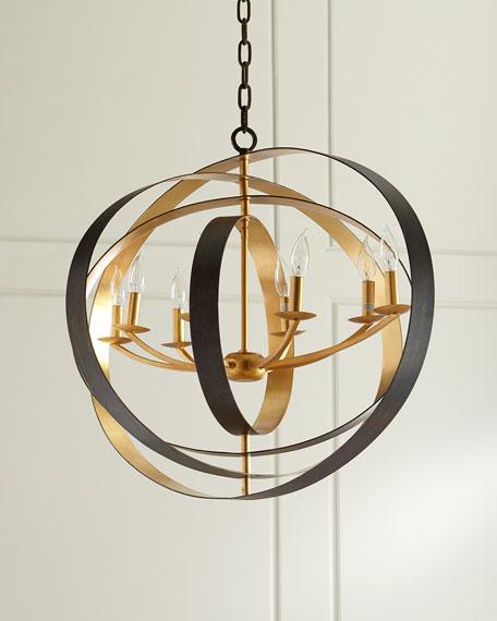 Luna 8-Light Bronze Oval Chandelier