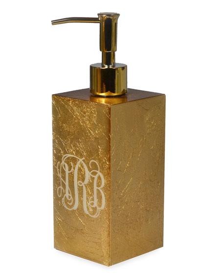 Mike & Ally Eos Monogram Box Pump, Gold