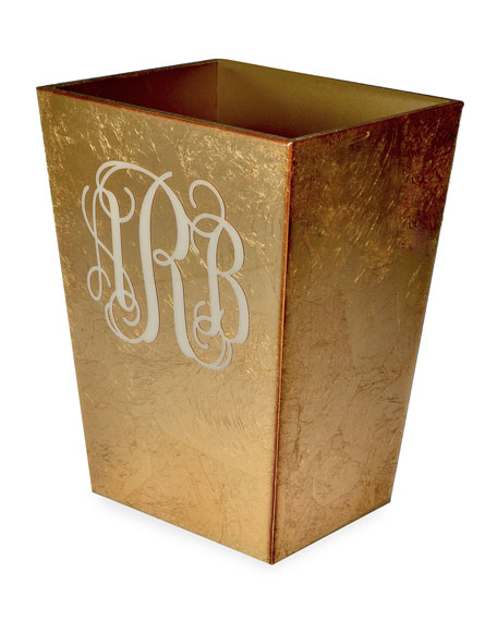 Mike & Ally Eos Monogram Straight Wastebasket with Liner