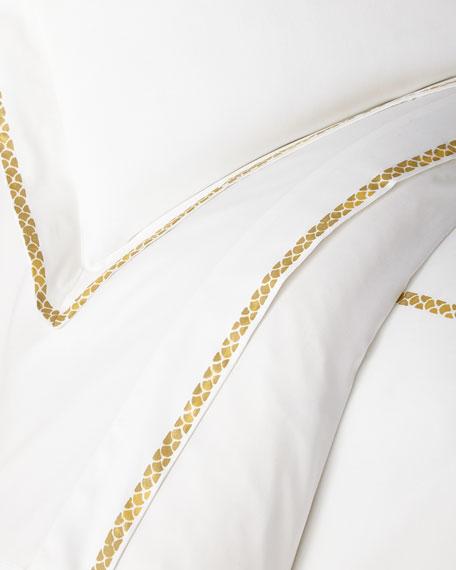 Roberto Cavalli New Gold Plain King Fitted Sheet, White