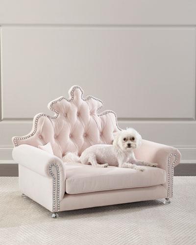 Isabella Blush Dog Bed