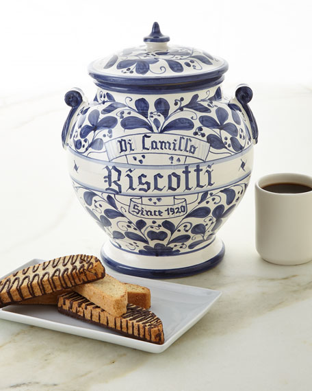 Dicamillo Baking Co Arabesco Biscotti Jar