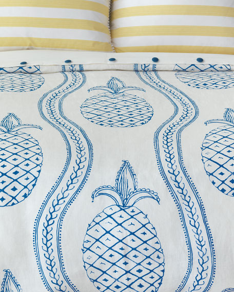 Eastern Accents Pineapple Bobble Oversized Queen Duvet