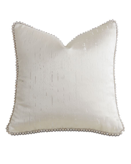 "Eastern Accents Watermill Taupe Decorative Pillow, 18""Sq."