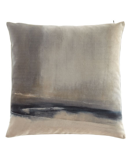 "Enigma Printed Velvet Pillow, 20""Sq."