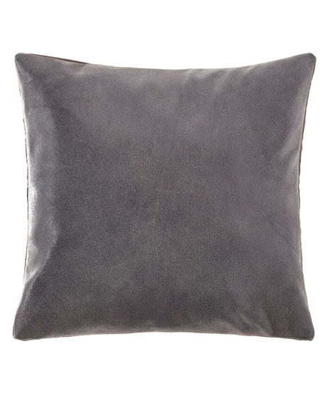 Donna Karan Home Clear Lacque Printed Leather Decorative Pillow