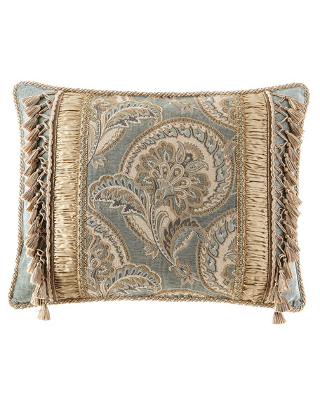 Dian Austin Couture Home Willette Pieced King Sham with Tassels