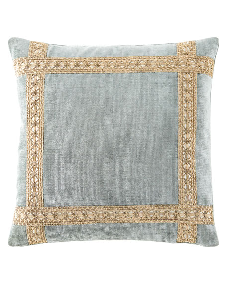 Dian Austin Couture Home Willette Velvet Boutique Pillow with Braid