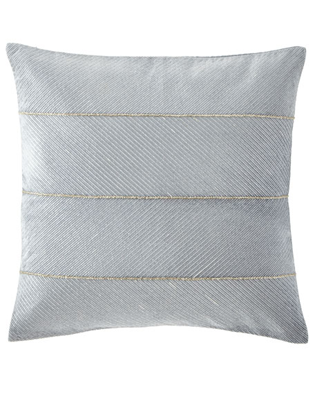 "Callisto Home Velvet Decorative Pillow, 22""Sq."