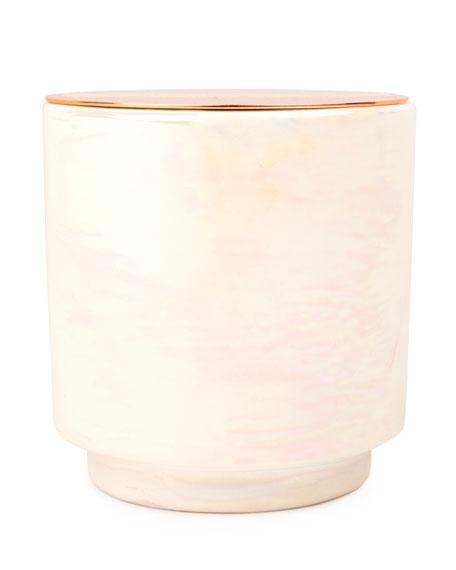 Paddywax Cotton & Teak Iridescent Ceramic Candle, 17 oz./482g