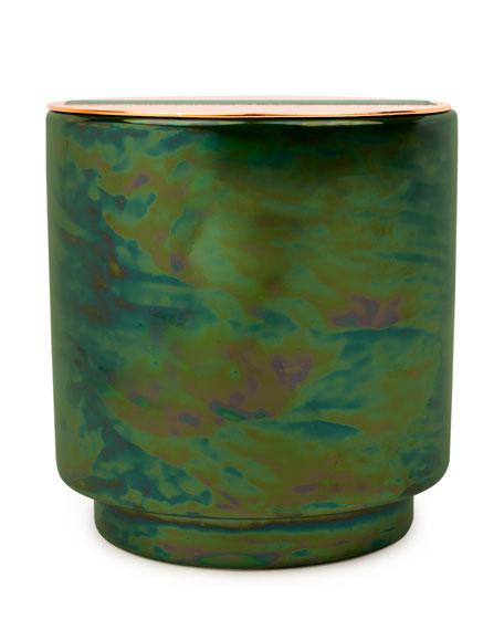 Paddywax Balsam & Eucalyptus Iridescent Ceramic Candle, 17 oz./482g