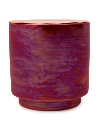 Cranberry Rose Iridescent Ceramic Candle  17 oz./482g