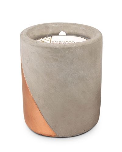 Bergamot & Mahogany Large Concrete Candle  12 oz./340g