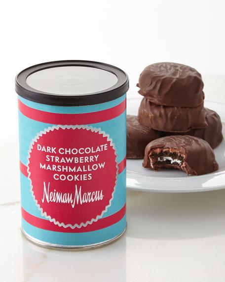 Dark Chocolate Strawberry Marshmallow Cookies