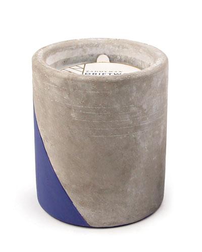 Driftwood + Indigo Large Concrete Candle  12 oz./340g