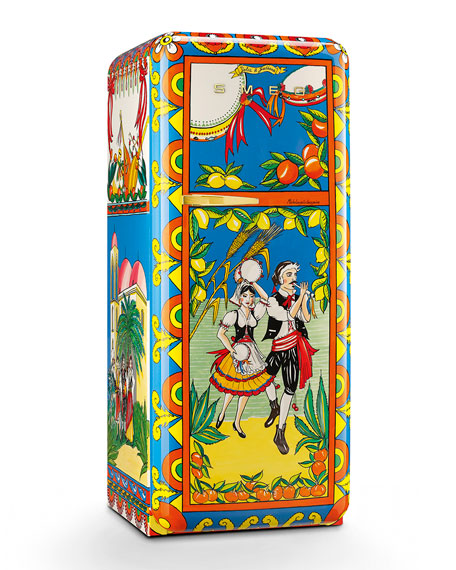 Smeg Dolce Gabbana x SMEG Taratatà Refrigerator