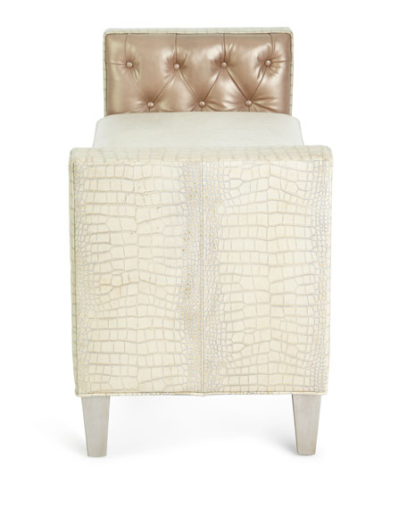 Massoud Justus Leather Bench