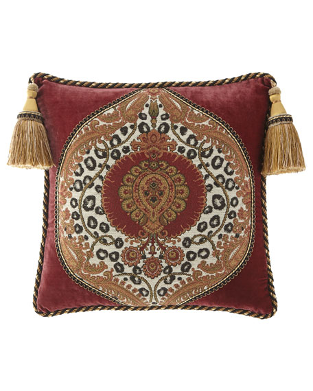 Dian Austin Couture Home Maximus Boutique Pillow with Tassels