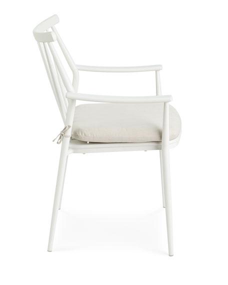Pair of Darrow Arm Chairs, White