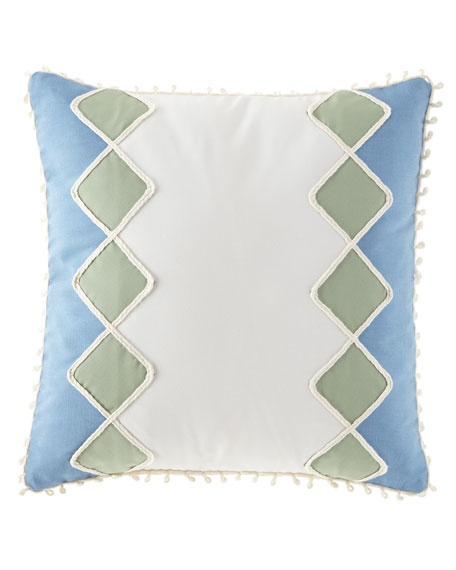 Eastern Accents Celerie Kemble Sail Celadon Diamonds Pillow,
