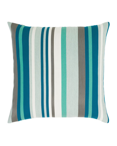 "Lagoon Stripe Pillow, 20""Sq."
