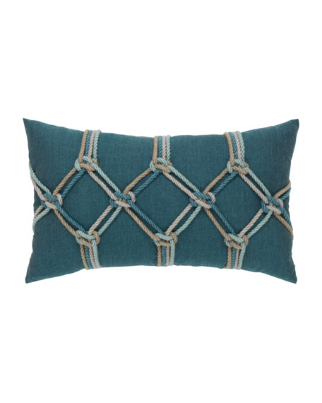 "Lagoon Rope Lumbar Pillow, 12"" x 20"""