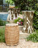 Faux-Rattan Garden Seat