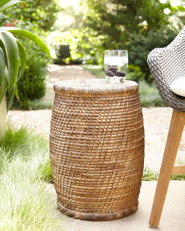 Faux-Rattan Garden Seat   Neiman Marcus