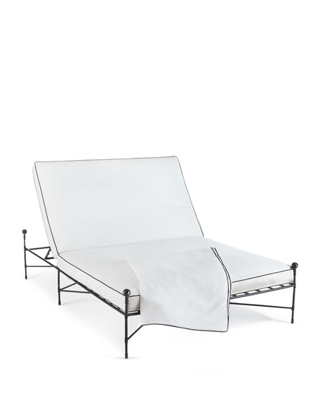 Avery Neoclassical Double Chaise Replacement Cover