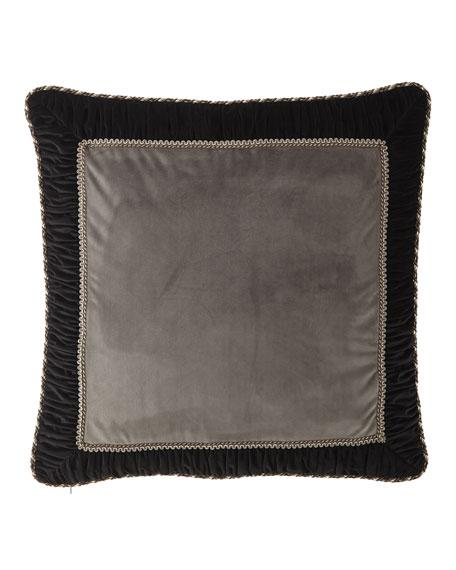 Austin Horn Collection Rockwell Framed Velvet European Sham