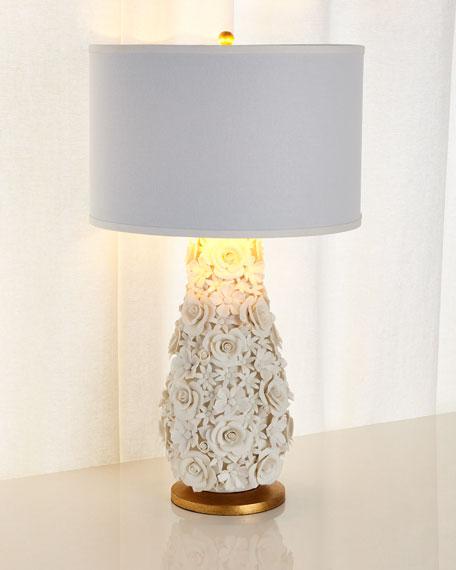 Porcelain Flower Lamp